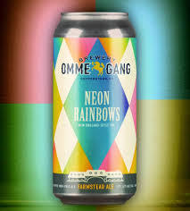 Ommegang Neon Rainbows beer Label Full Size