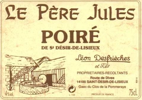 Le Pere Jules Poire Pays D'Auge beer Label Full Size