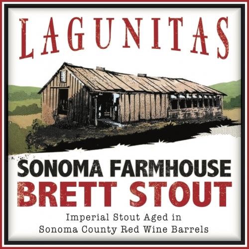 Lagunitas Sonoma Farmhouse Brett Stout beer Label Full Size