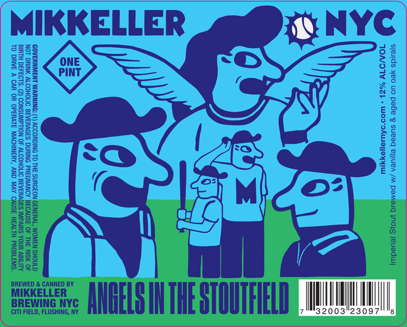 Mikkeller NYC Angels in the Stoutfiled beer Label Full Size