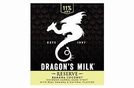 New Holland Dragon's Milk Reserve: Banana Coconut beer Label Full Size