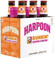 Harpoon Dunkin Coffee Porter beer Label Full Size