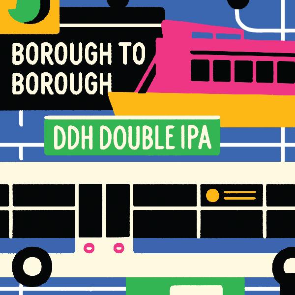 Five Boroughs Borough to Borough beer Label Full Size