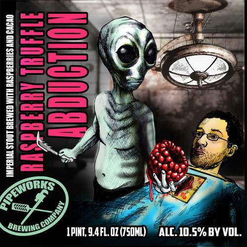Pipeworks Raspberry Truffle Abduction beer Label Full Size