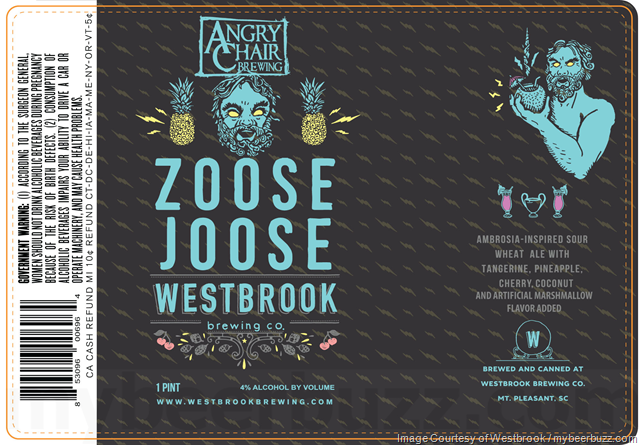 Westbrook/Angry Chair Zoose Joose beer Label Full Size