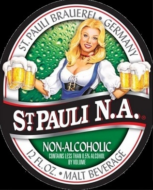 St. Pauli Girl Non-Alcoholic beer Label Full Size