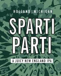 Big Lake Sparti Parti beer Label Full Size