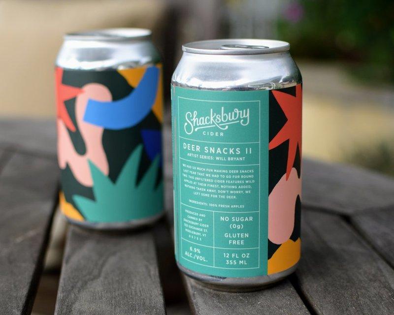 Shacksbury Deer Snacks II beer Label Full Size