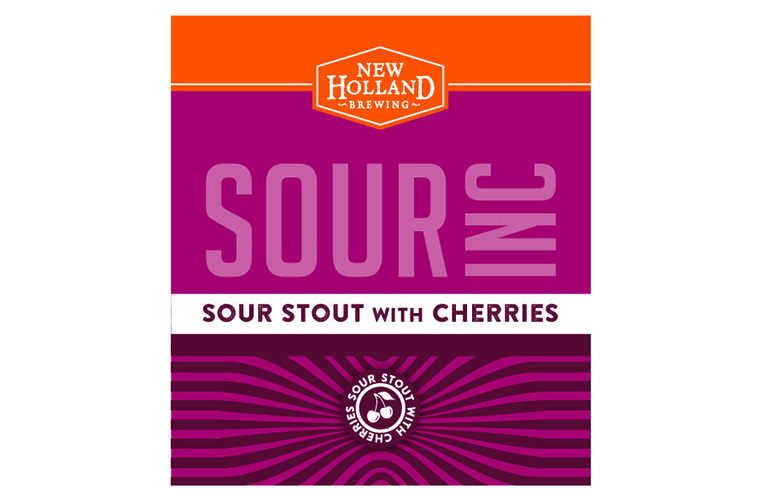 New Holland Sour Inc: Sour Stout With Cherries beer Label Full Size