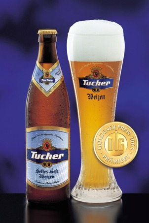 Tucher Helles Hefe Weizen beer Label Full Size