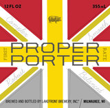 Lakefront Proper Porter beer