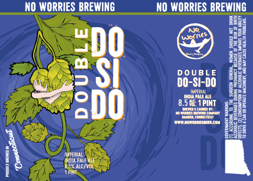 No Worries - Double Do-Si-Do beer Label Full Size