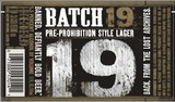 Batch 19 Pre-Prohibition Lager beer