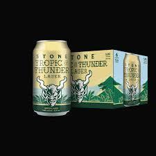 Stone Tropic of Thunder beer Label Full Size