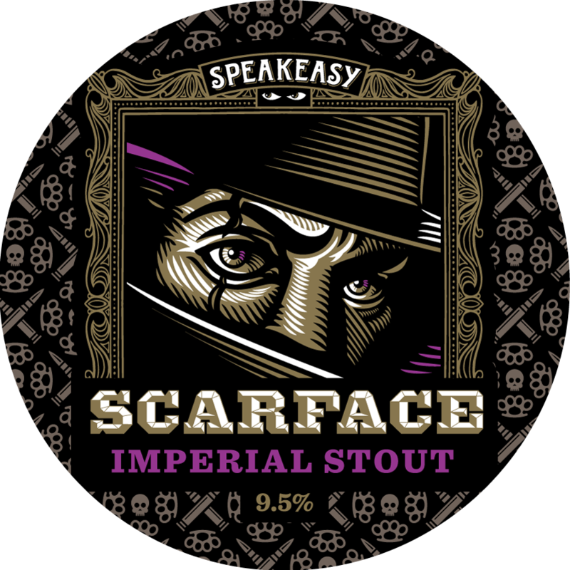 Speakeasy Scarface Imperial Stout beer Label Full Size
