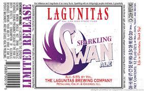 Lagunitas Sparkling Swan beer Label Full Size
