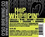 O'so Hop Whoopin Nitro beer