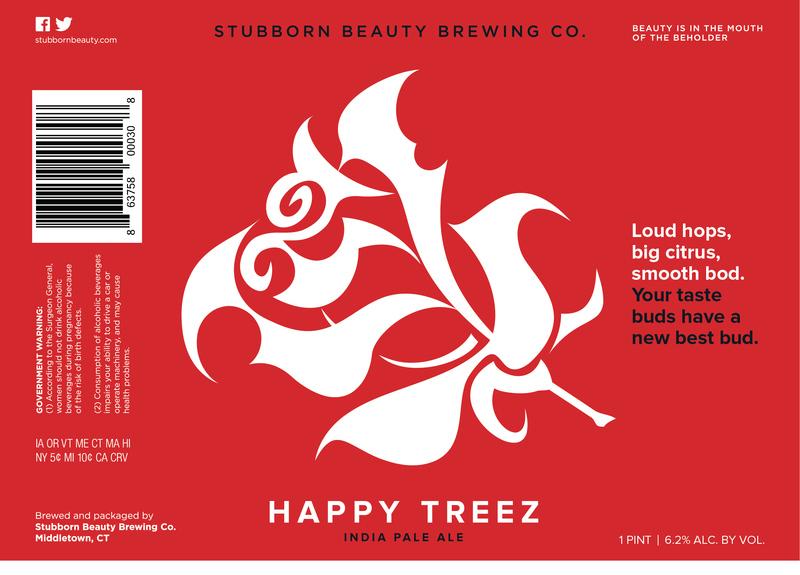 Stubborn Beauty - Happy Treez beer Label Full Size