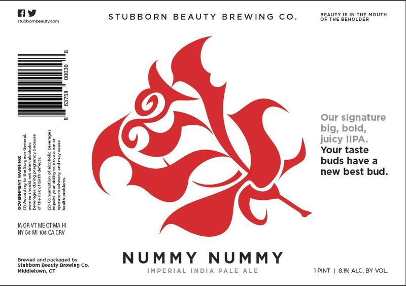 Stubborn Beauty - Nummy Nummy beer Label Full Size