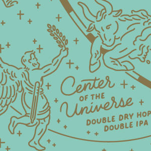 Five Boroughs Center of the Universe beer Label Full Size