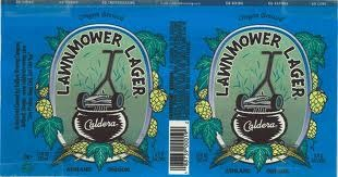 Caldera Lawnmower Lager beer Label Full Size
