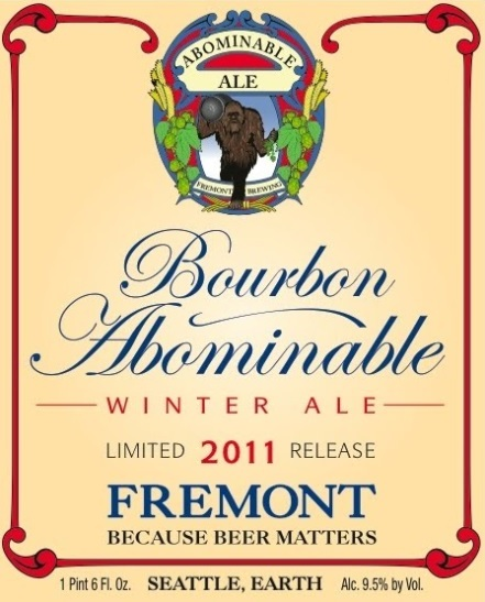 Fremont Bourbon Abominable Winter Ale beer Label Full Size