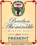 Fremont Bourbon Abominable Winter Ale beer