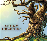 Sam Adams Angry Orchard Elderberry beer Label Full Size