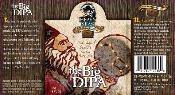 Heavy Seas Bourbon barrel Aged The Big DIPA beer Label Full Size