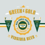 Virginia Beer Co. Green & Gold beer
