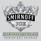 Smirnoff Ice Triple Black beer Label Full Size