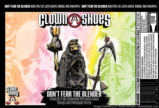 Clown Shoes Don't Fear the Blender beer Label Full Size
