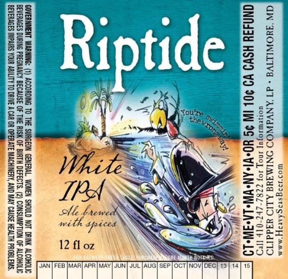 Heavy Seas Riptide White IPA beer Label Full Size