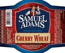 Sam Adams Cherry Wheat beer Label Full Size