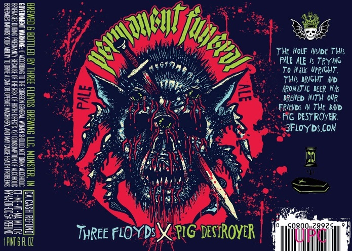 Three Floyds Permanent Funeral beer Label Full Size