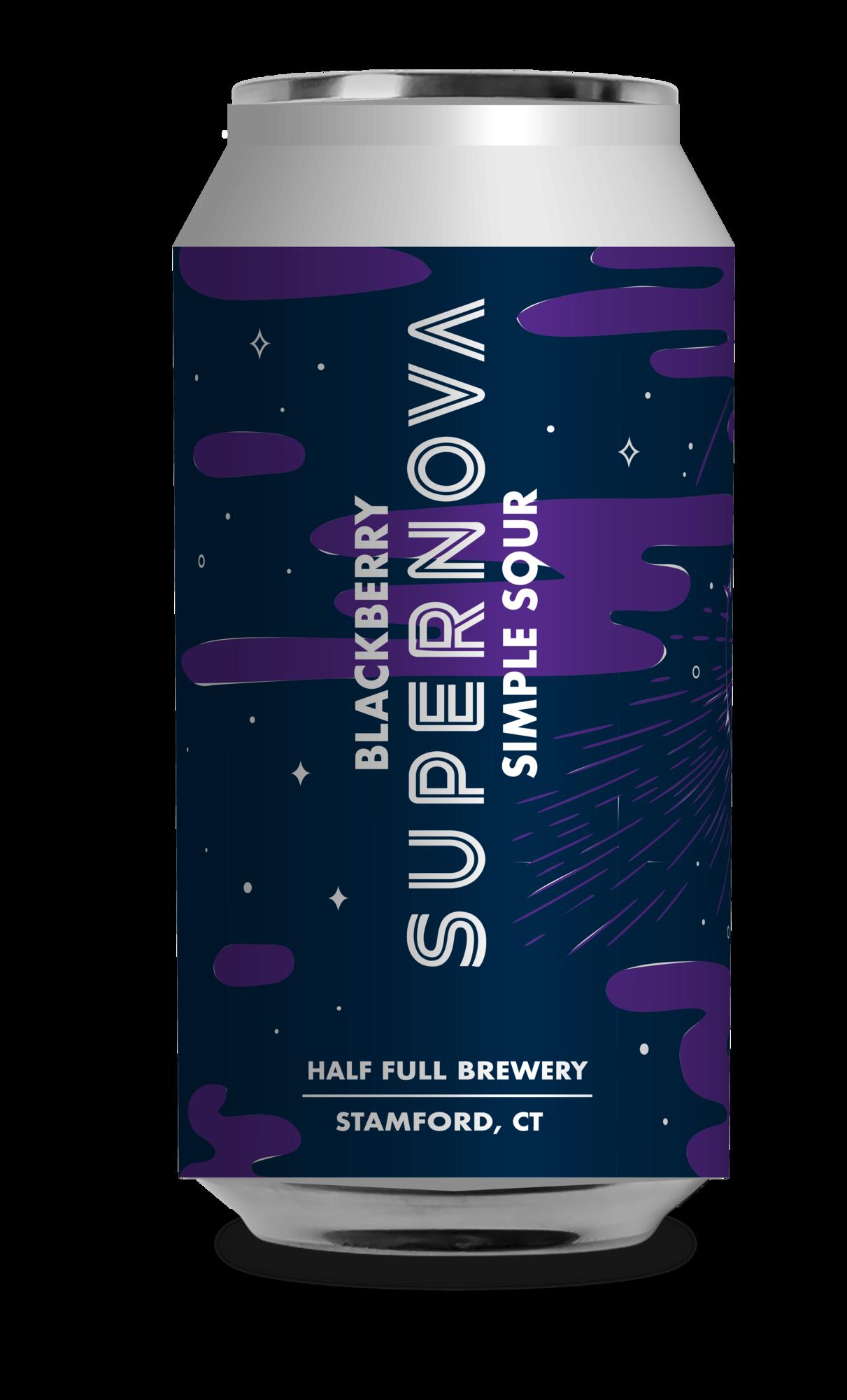 Half Full Blackberry Supernova beer Label Full Size