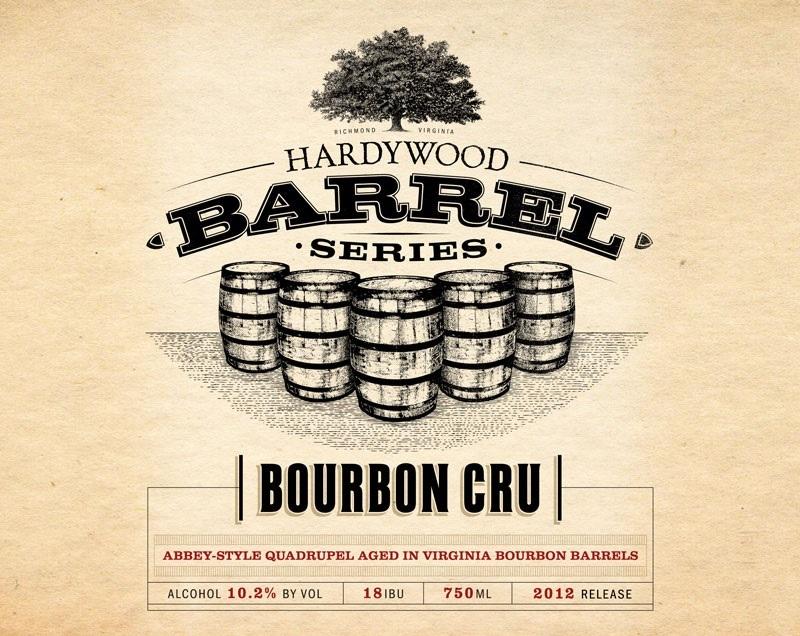 Hardywood Bourbon Cru beer Label Full Size
