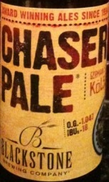 Blackstone Chaser Pale beer Label Full Size