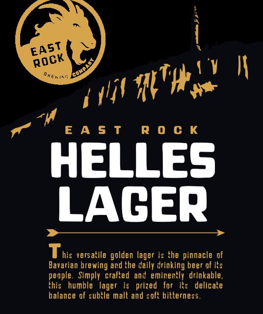 East Rock Helles Lager beer Label Full Size