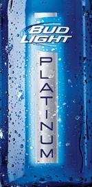 Budweiser Light Platinum beer Label Full Size