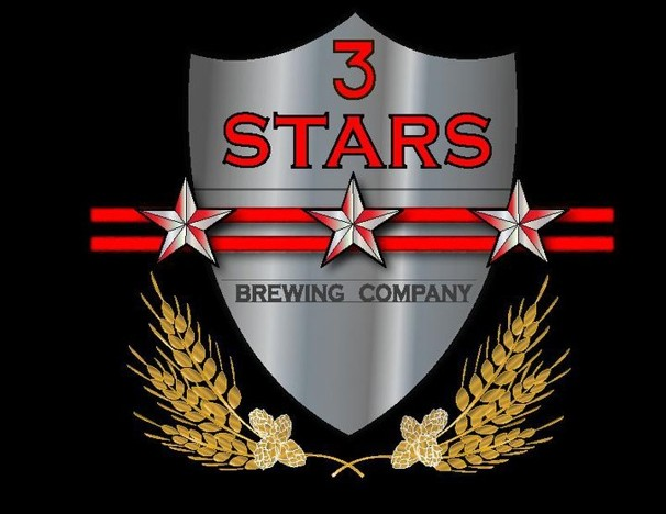 3 Stars Two to the Dome beer Label Full Size