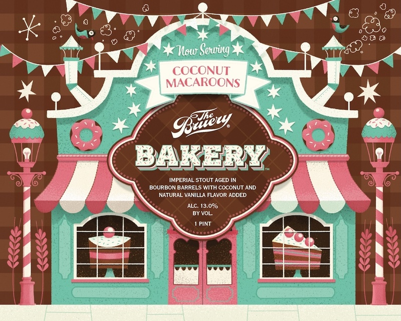 The Bruery Bakery: Coconut Macaroons beer Label Full Size