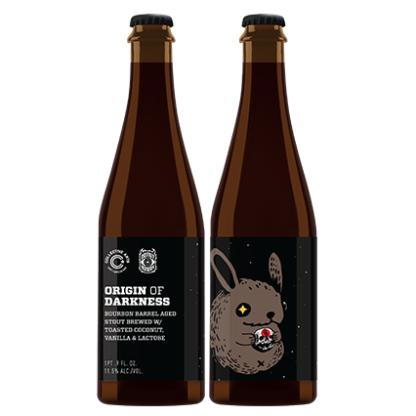 Collective Arts / Donut Monster Origin of Darkness beer Label Full Size