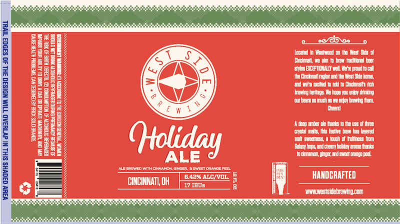 West Side Holiday beer Label Full Size