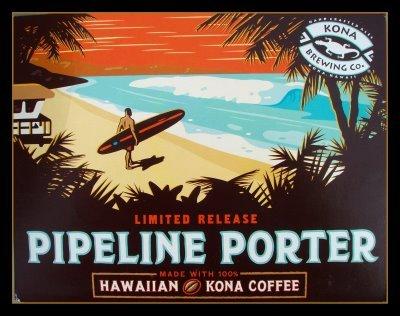 Kona Pipeline Porter beer Label Full Size
