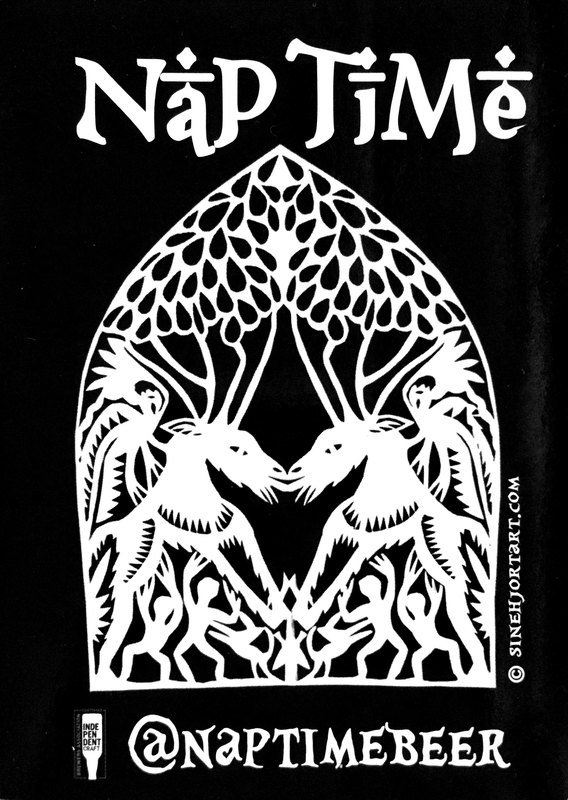 Nap Time - Christmas Reaper beer Label Full Size