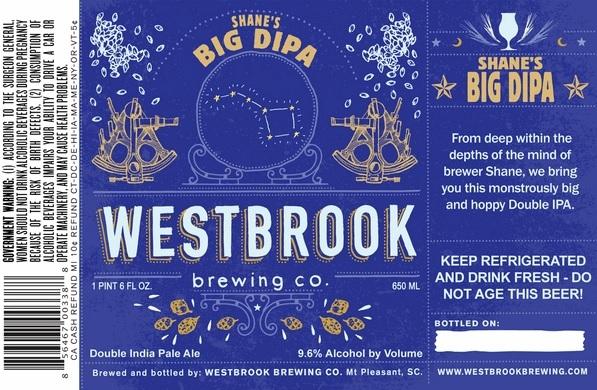 Westbrook Shane's Big DIPA Beer