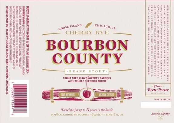 Goose Island Cherry Rye Bourbon County Brand Stout beer Label Full Size