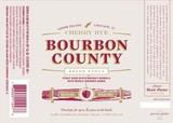 Goose Island Cherry Rye Bourbon County Brand Stout beer