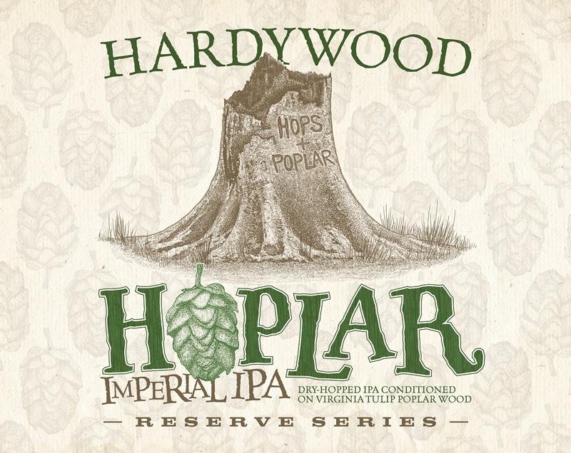 Hardywood Hoplar beer Label Full Size